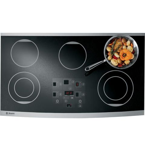 Zeu36rsfss 36 Digital Electric Cooktop The Ge Monogram Collection Cooktop Electric Cooktop Kitchen Cooktop