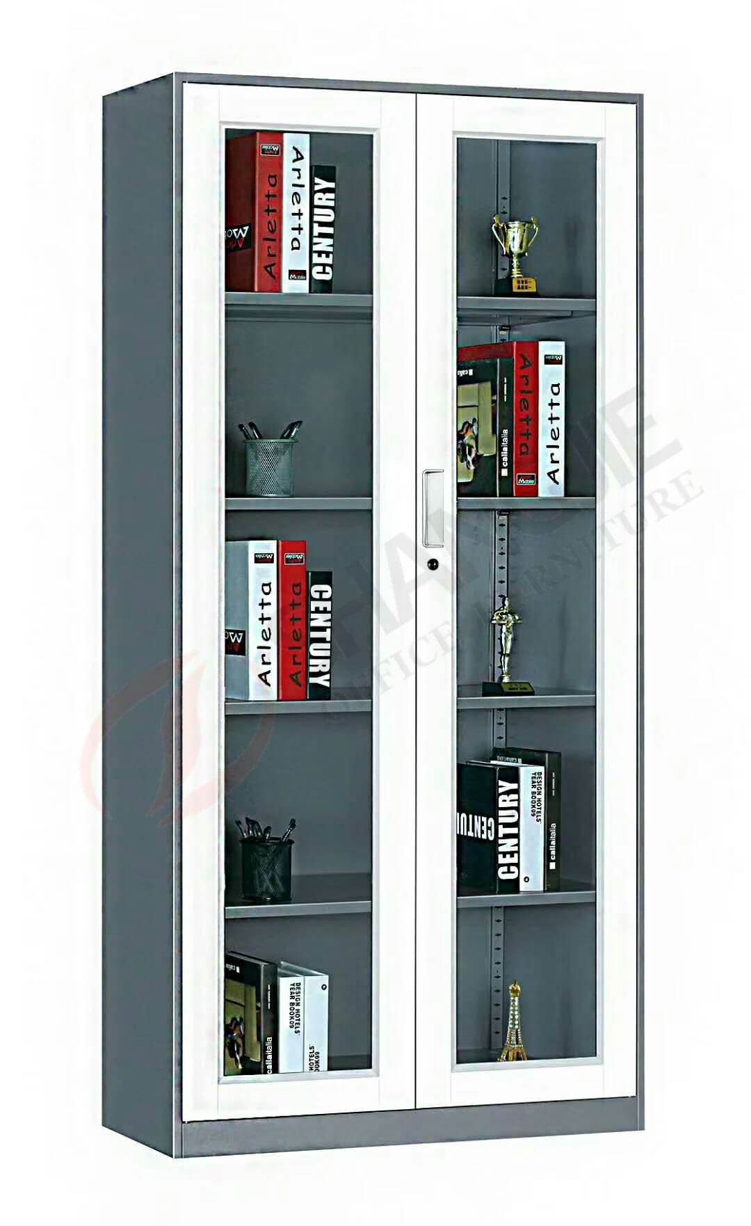 Metal Filing Storage Cabinet With Glass Door It Is Suitable For