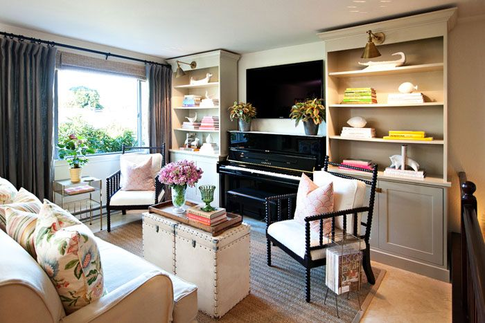 Living Room Layout With Upright Piano And Tv