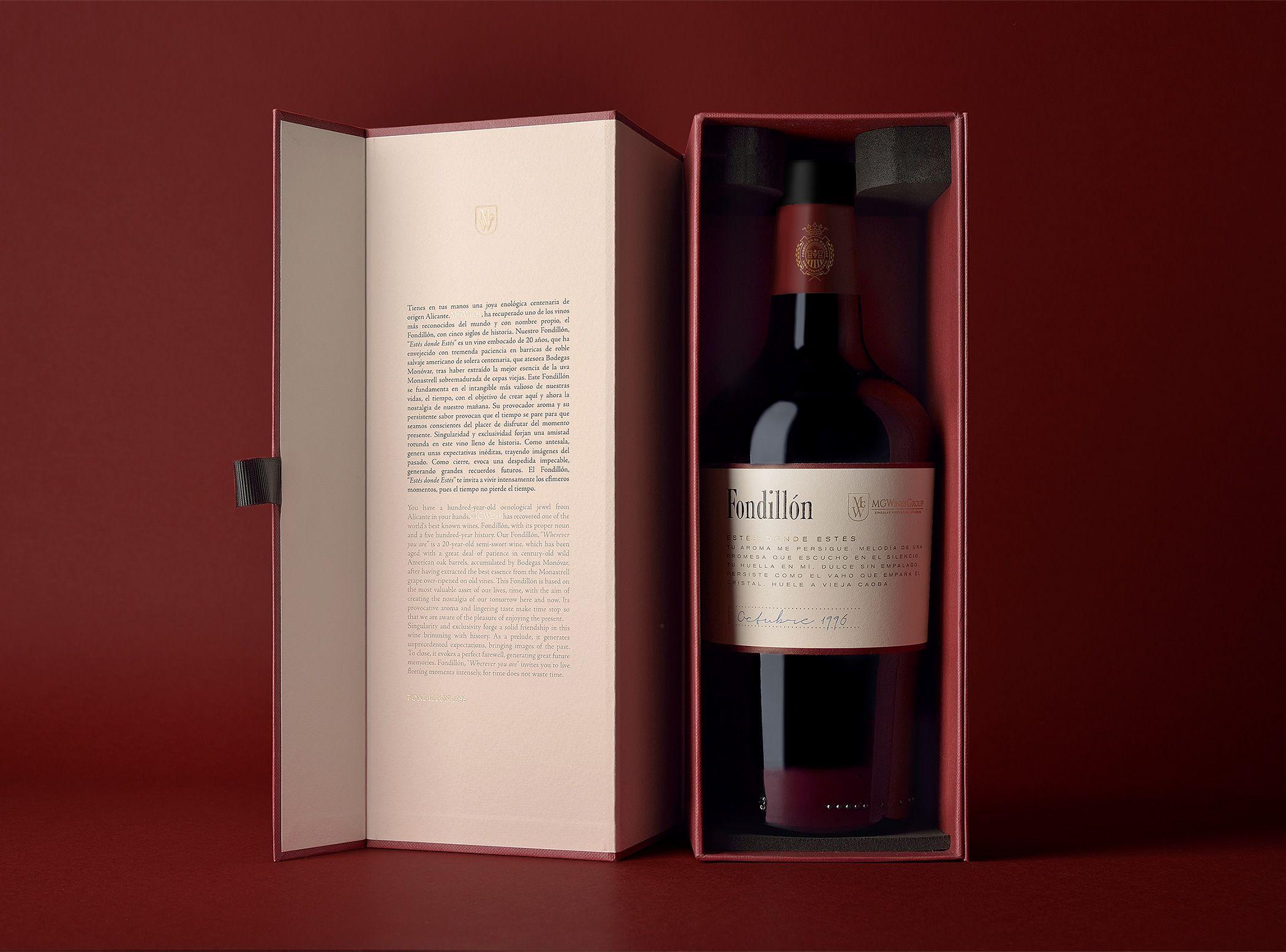 Fondillon On Behance Bottle Packaging Bottle Wine Bottle