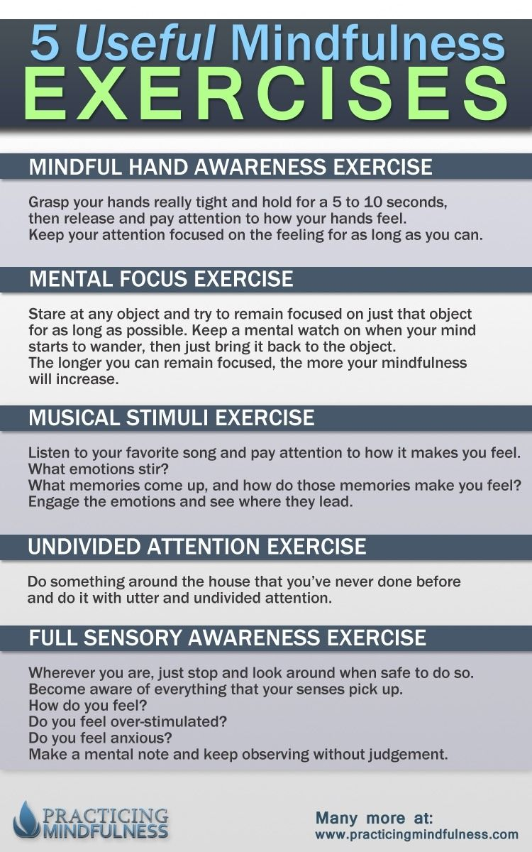 Mindful Awareness — A few good mindfulness exercises for