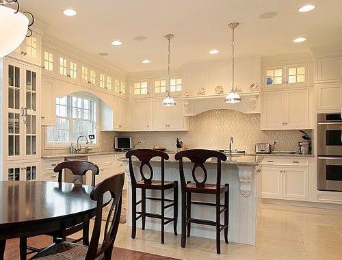 Daltile Rittenhouse Backsplash  Kitchen  Pinterest  Traditional Gorgeous Upper Kitchen Cabinets Inspiration