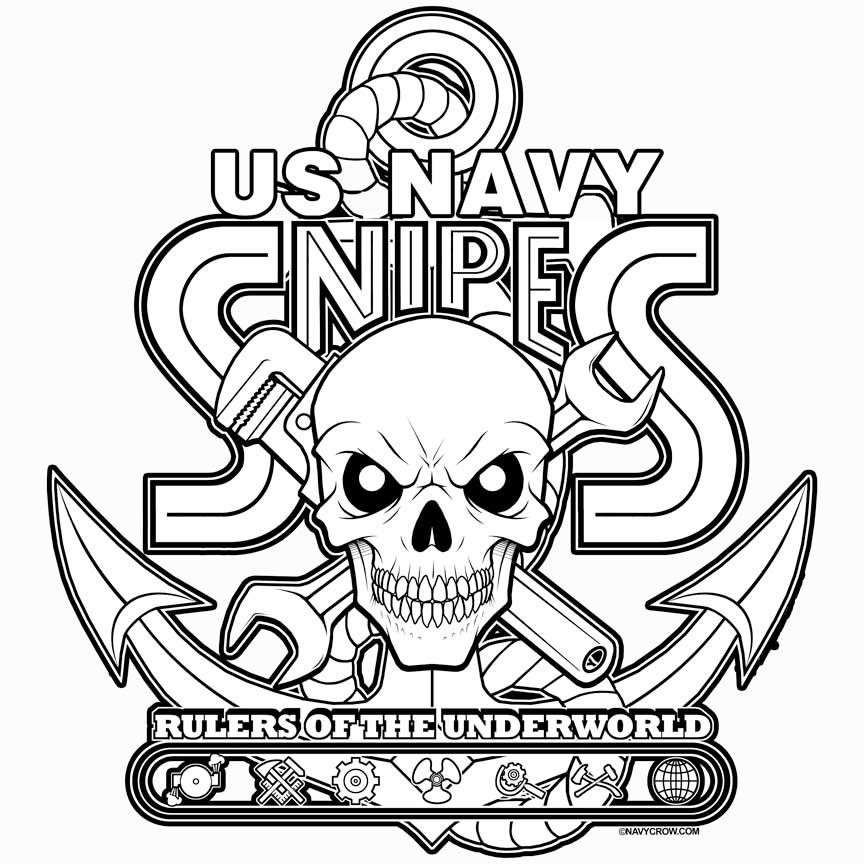Navy Snipes Decal