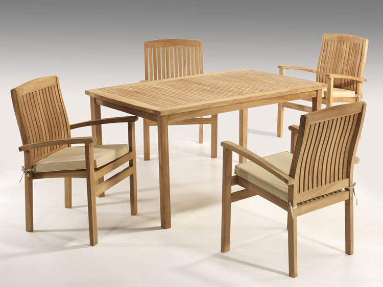 Comedor teka exteriores mesa 4 sillas con cojines sillas comedores mesas y mesa terraza - Cojines sillas comedor ...