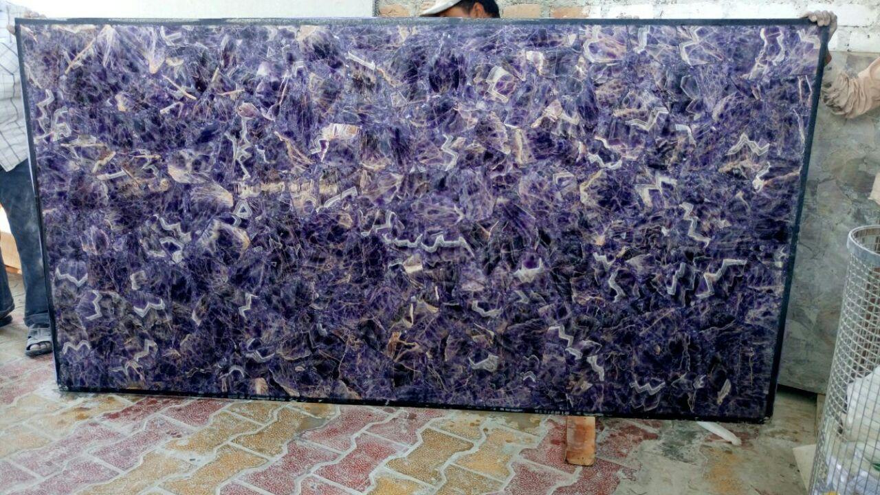 pinheight stones on semiprecious stone slab home decor