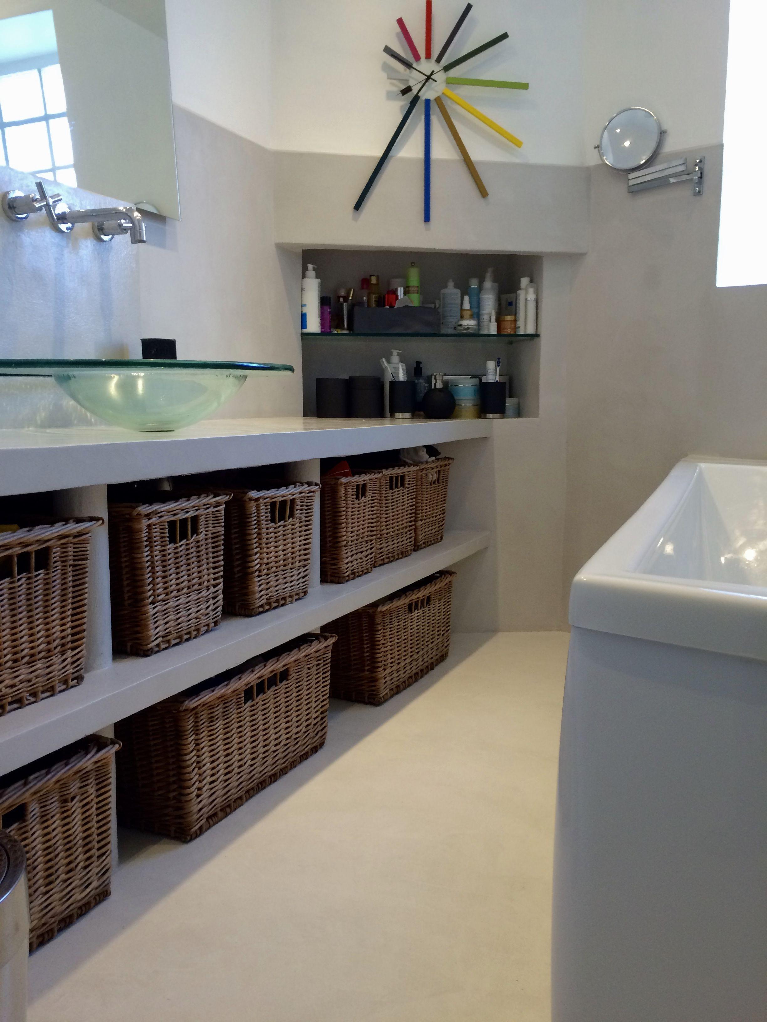 B.CC - Salle de bain en béton ciré (couleur Gris Cendré/MA's)