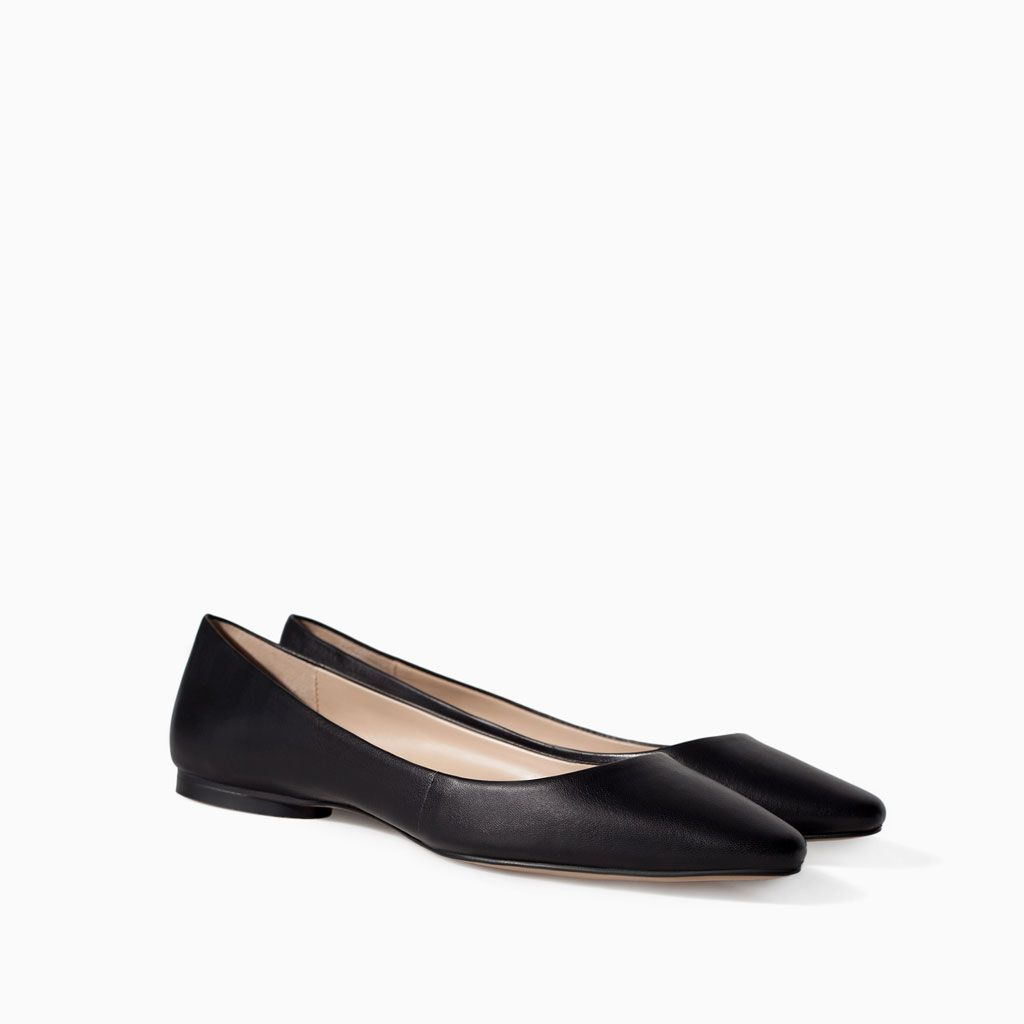 #49 SOFT LEATHER BALLERINA FLATS