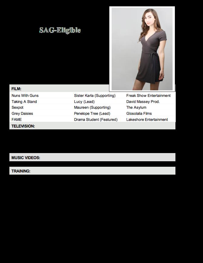 dance resume format
