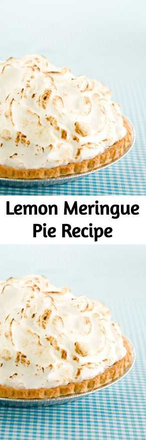 Lemon Meringue Pie is a sweet and tangy pie with light and toasty meringue #lemonmeringuepie