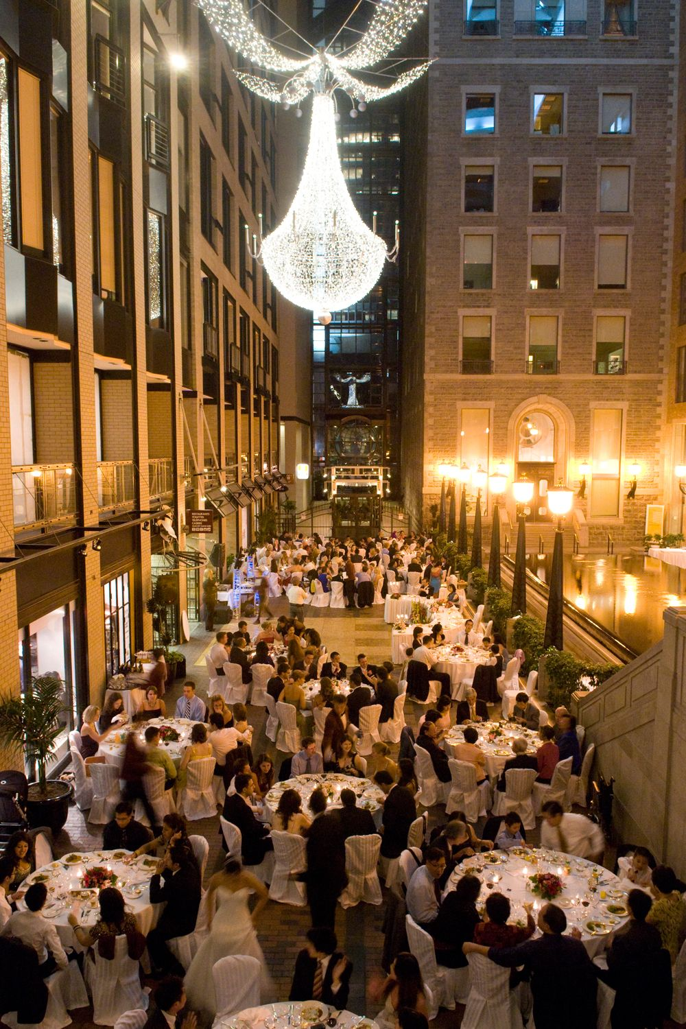 Wedding Reception At The Intercontinental Hotel In Montreal In The Ruelle This Location Is
