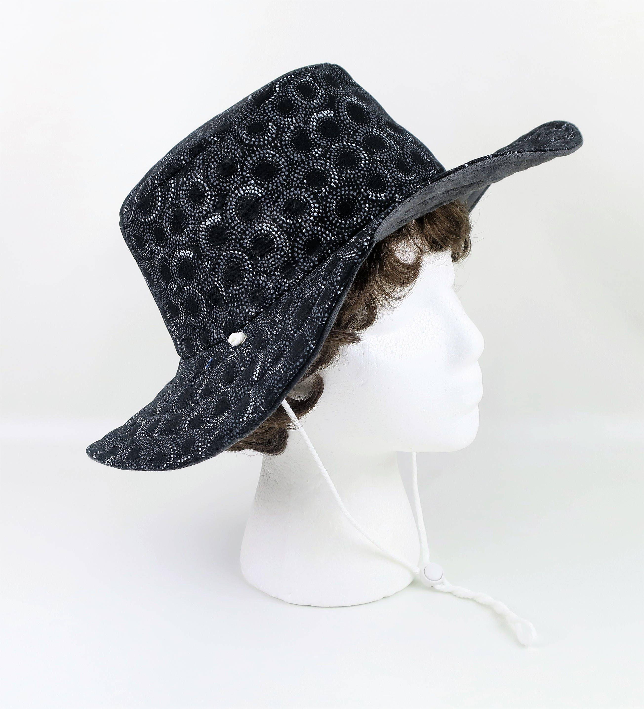 Black Gray Washable Hat Women Garden Summer Mens Bucket Beach Cotton For Floppy Sun Wide Brim By