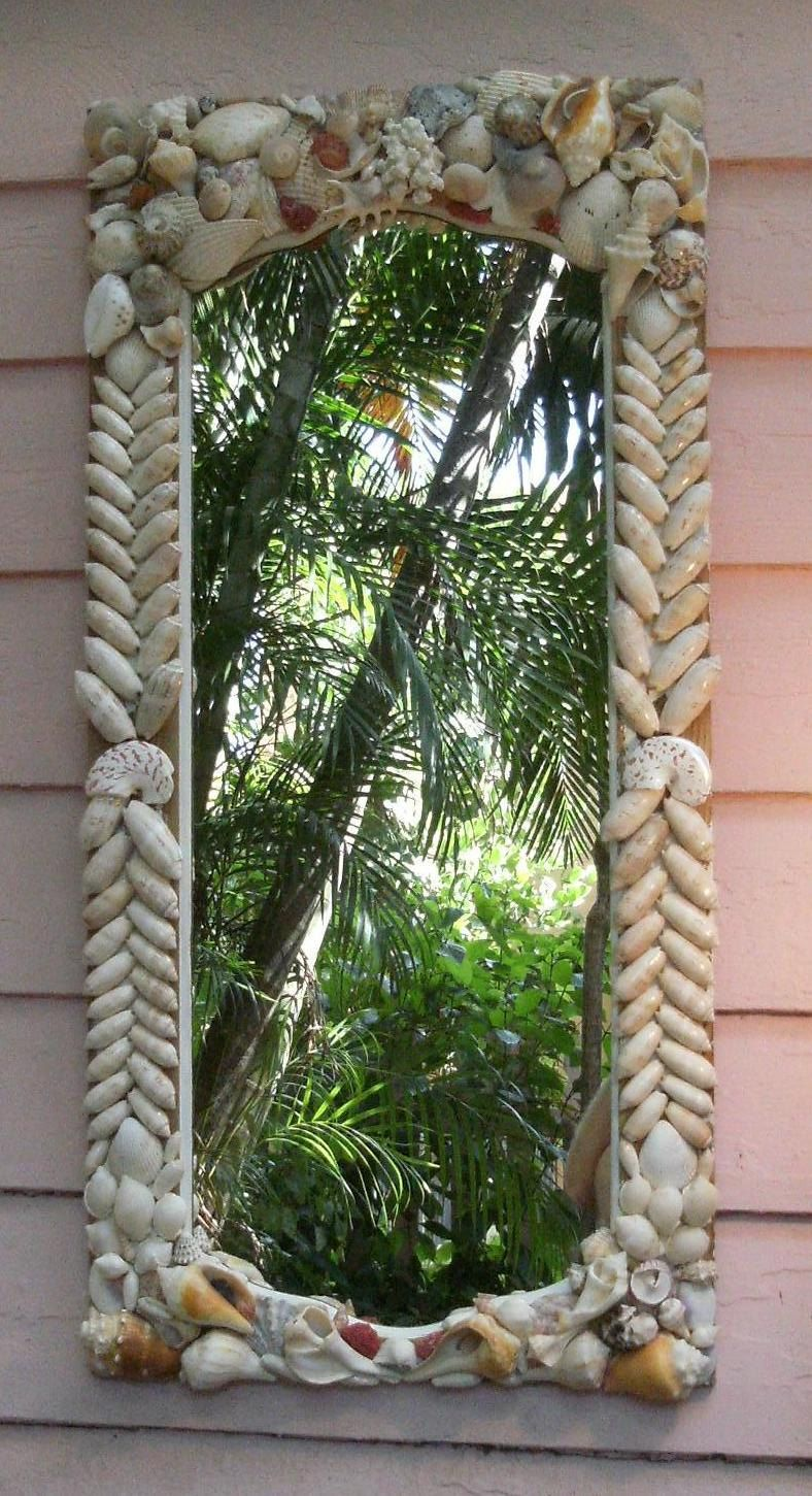 Seashell Mirror Ideas DIY Beach Cottage Decor Coastal Living Nautical Perfect