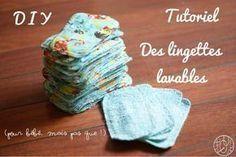 Tutoriel : des lingettes lavables pour bébé