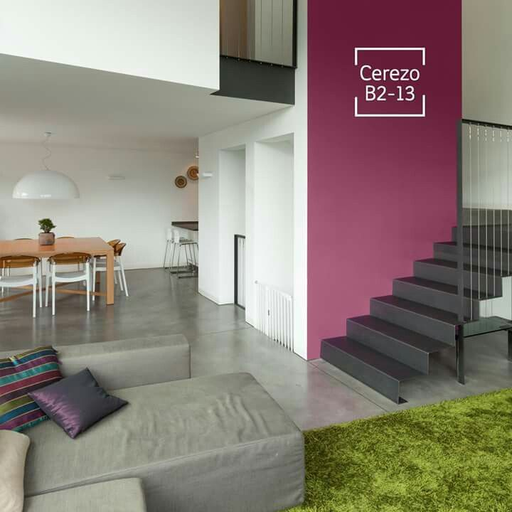 Comex cerezo decoraci n pinterest house projects for Pared color cereza