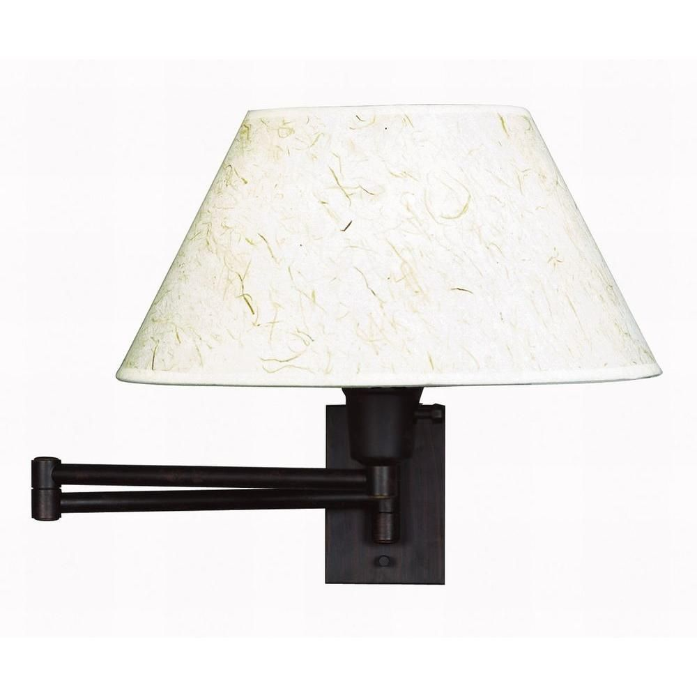Kenroy Home Simplicity 13 In Bronze Wall Swing Arm Lamp 30110brz