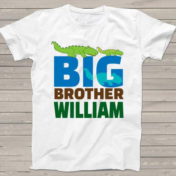 b9f294899e6c5 Big Brother Alligator shirt Back to school tshirt by StoykoTs Baby Boy  Gifts, Boys Shirts