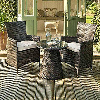 Maze Rattan Outdoor Garden Furniture La 2 Seat 60cm Round Table