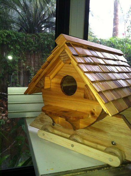 Best Round Bottom Redwood And Cedar Shingle Birdhouse Bird 400 x 300
