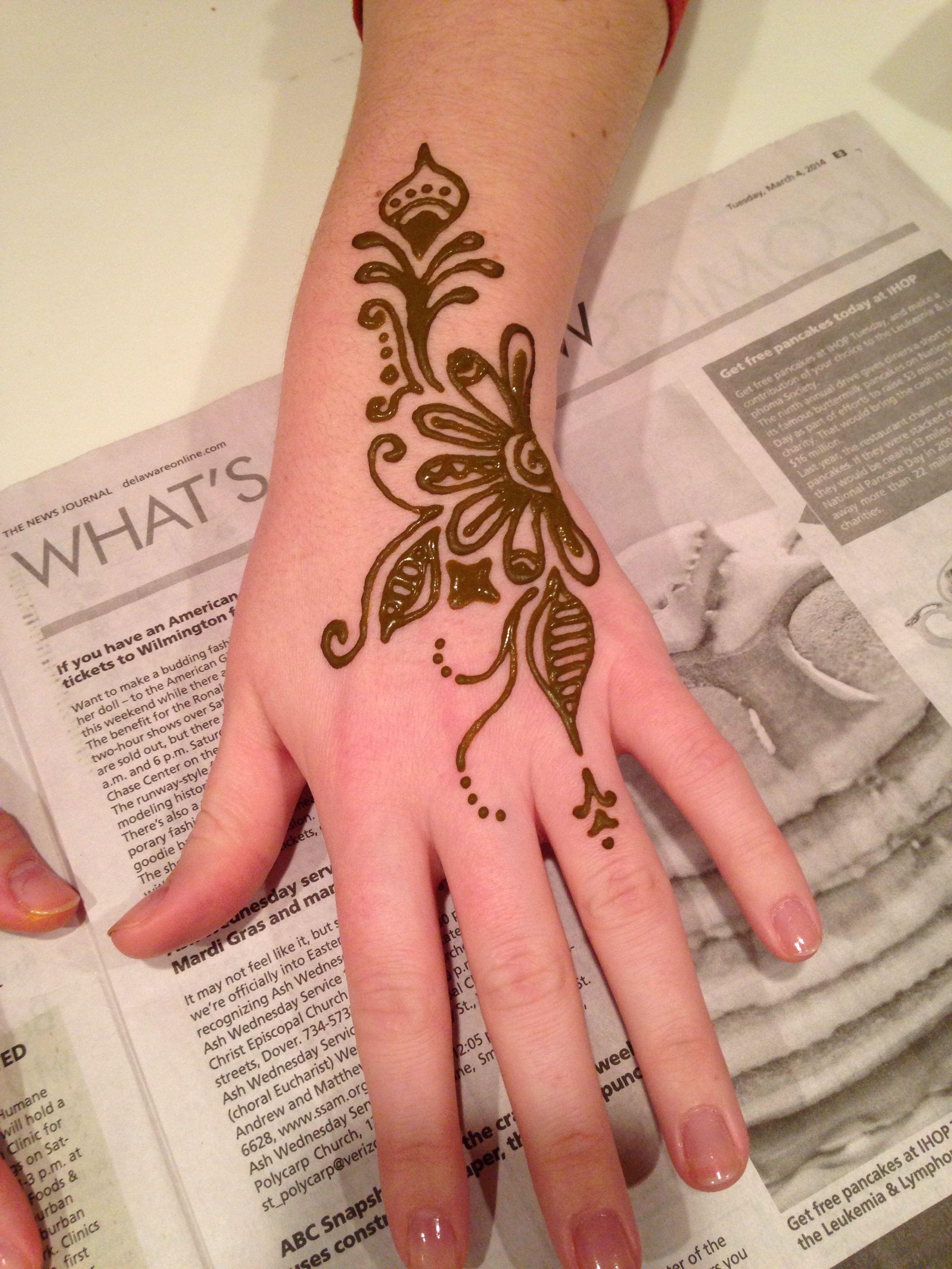 8d7d22307 Mid finger to wrist flower design Wrist Flowers, Hand Henna, Hand Tattoos,  Flower
