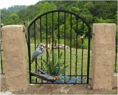 Custom Made Garden Gates In Wrought Iron Style