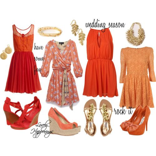 orange for attending a wedding