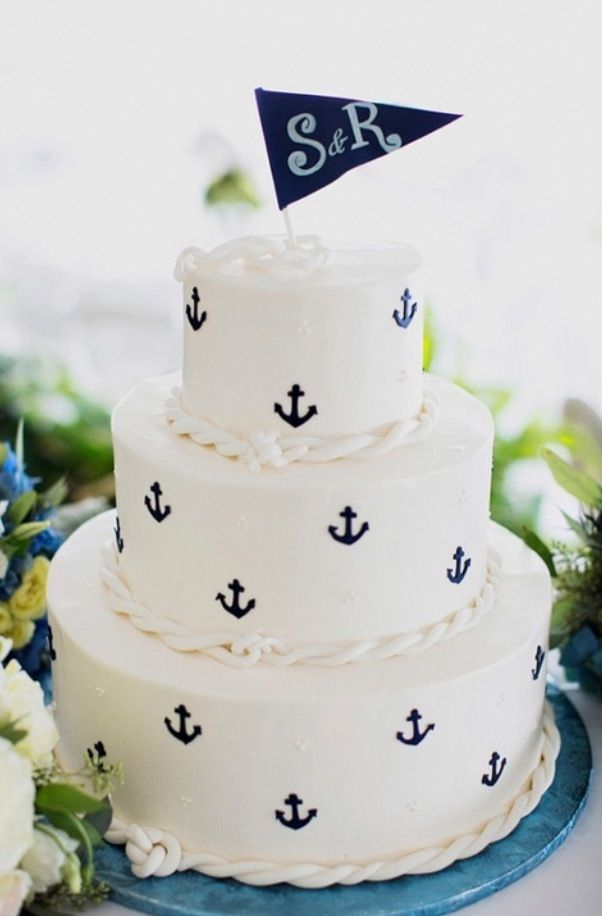 10 Sea Loving Nautical Cakes Anchor Cakes Themed Weddings And Classy