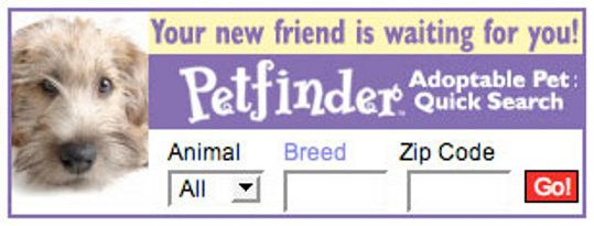 Search Shelters By Animal, Breed, Or Zip Code  Pet Finder -6635