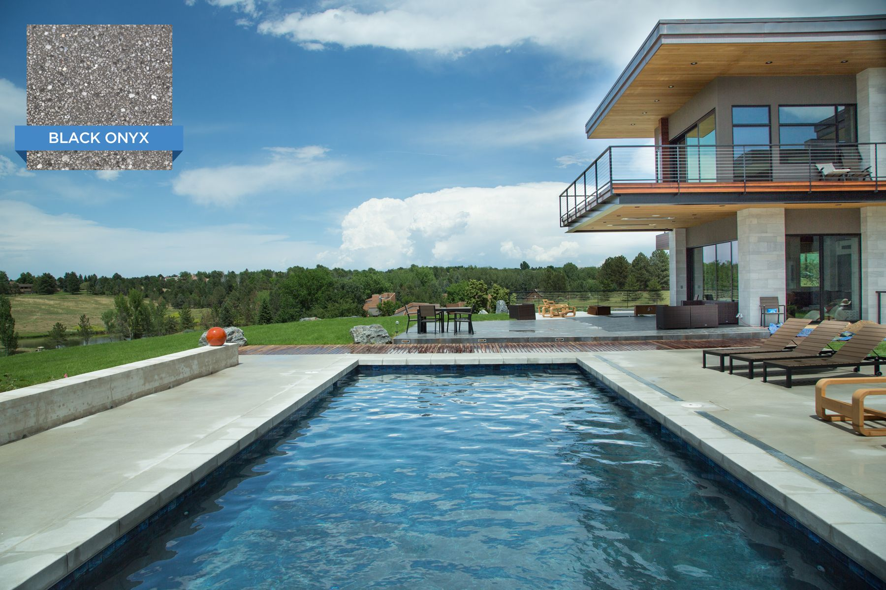 This Colorado pool features our Sunstone \
