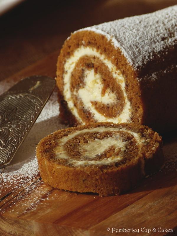 Pumpkin Roll de Pemberley Cup & Cakes @Rosa M {Pemberley Cup & Cakes}