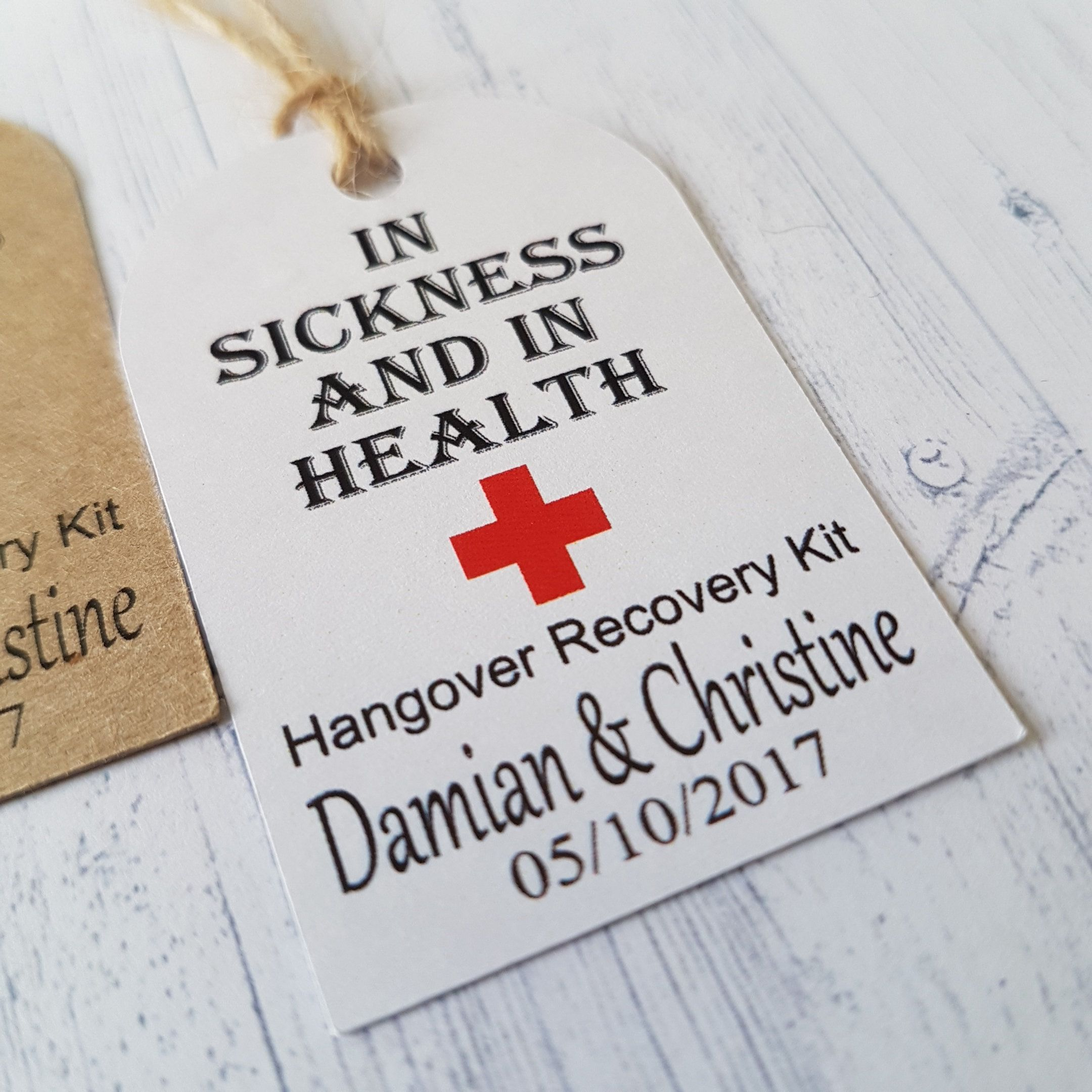 Wedding Hangover Kit Labels, Personalised Wedding Guest Favors ...