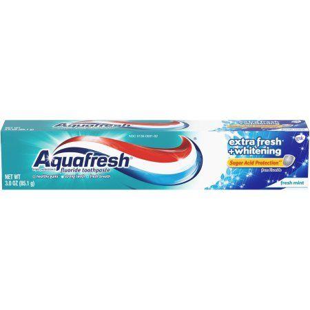 Aquafresh Extra Fresh Plus Whitening Toothpaste, 3 oz, Multicolor
