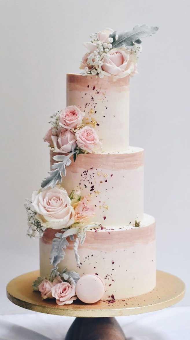 El Mas Bonito Y Unico De Pasteles De Boda Que Hemos Visto Nunca Simple Wedding Cake Pretty Wedding Cakes Wedding Cake Designs