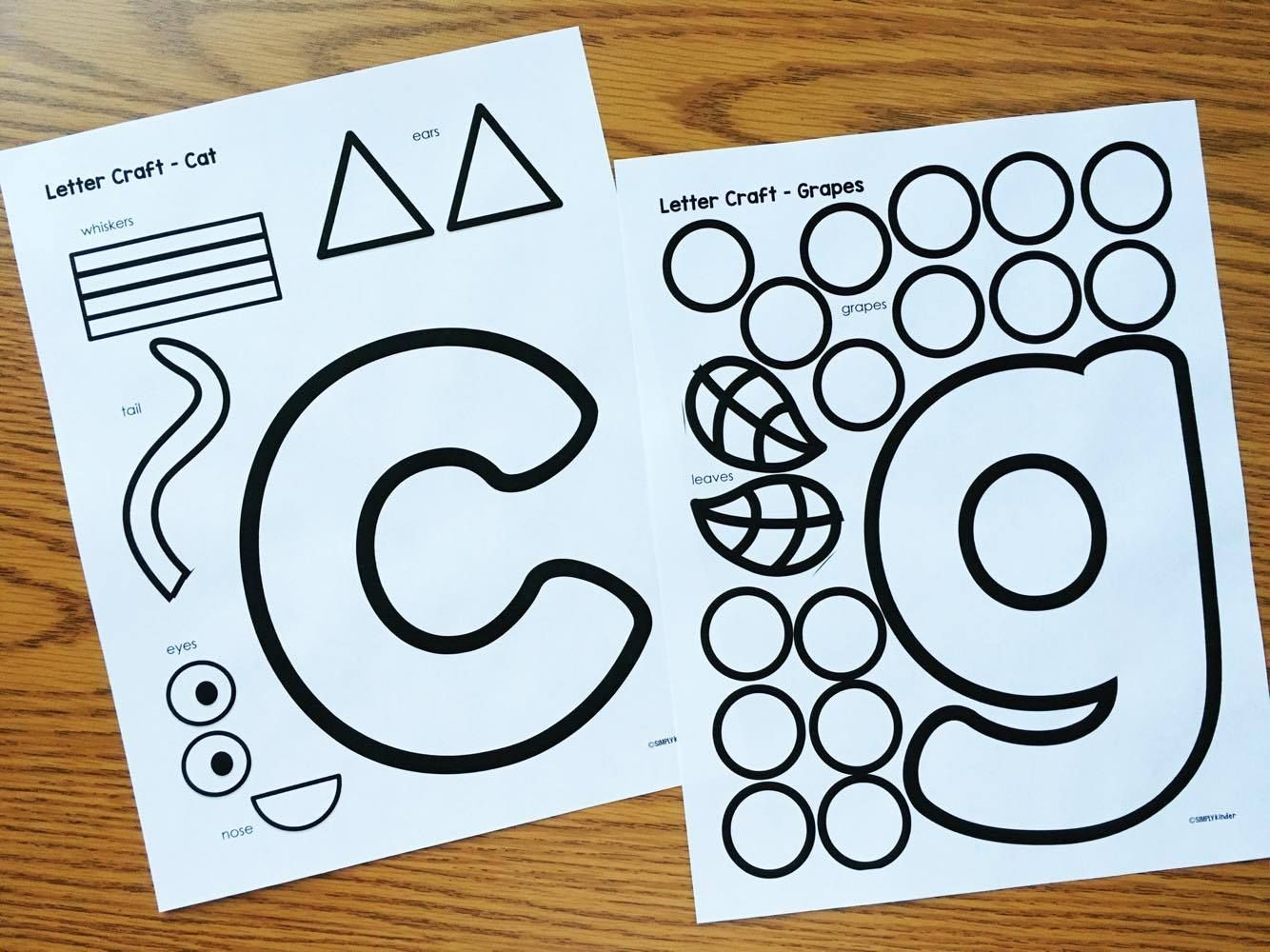 Alphabet Crafts & Printables Notebooks | Educational Ideas ...