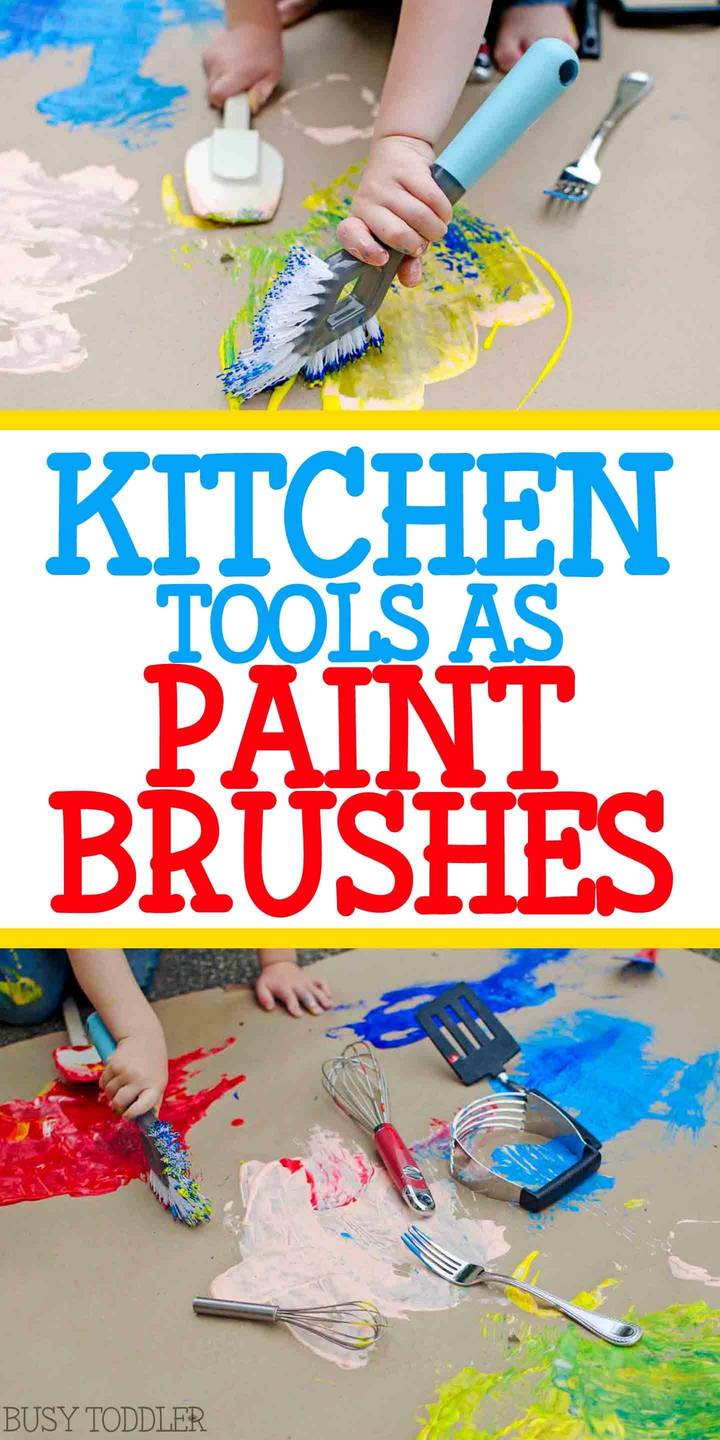 Kitchen Tools As Paint Brushes