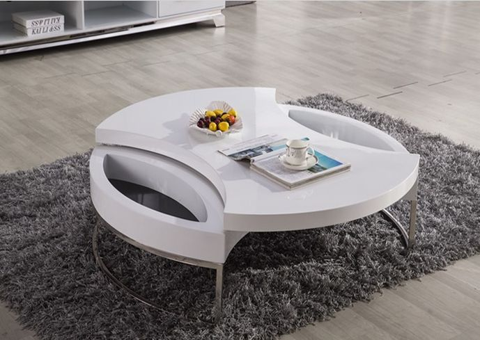 Low white modern coffee table contemporary design on modern design ideas