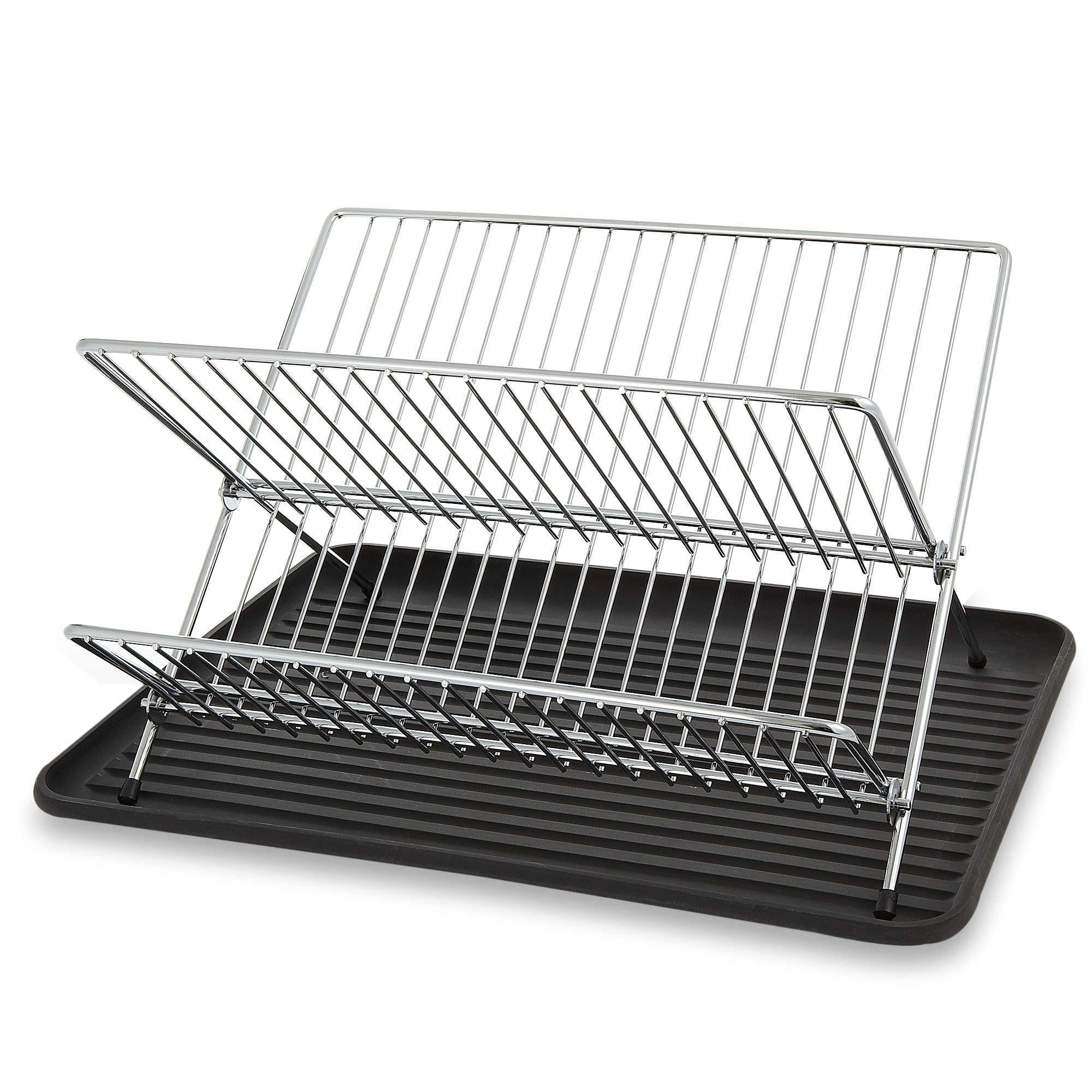 Bed Bath And Beyond Drying Rack Salt™ Folding Dish Rack And Drain Board Set  Apartment Decorating