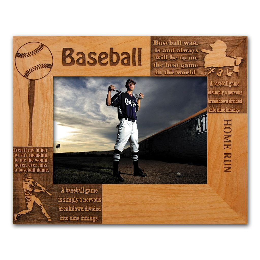 Personalized Baseball Wooden Picture Frame 8\