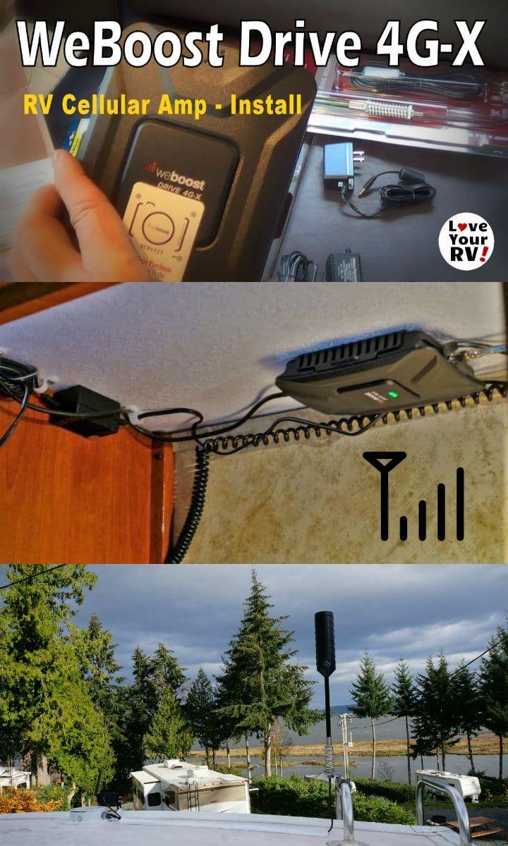 Installing The Weboost 4g X Rv Cellular Booster Kit Rv Rv Life Installation