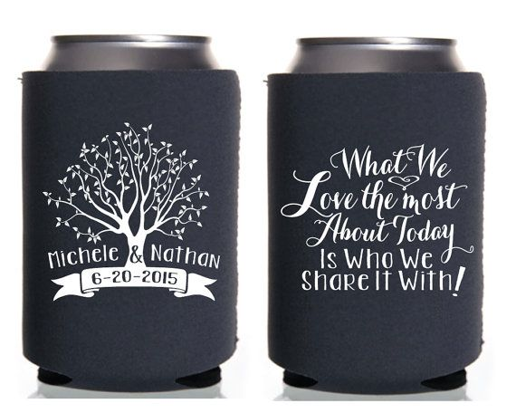 Custom Wedding Favors Wedding Party Gifts Monogram Can Cooler Personalized Can Coolers Beer Can Coolers Drink Coolers Groomsmen Gifts