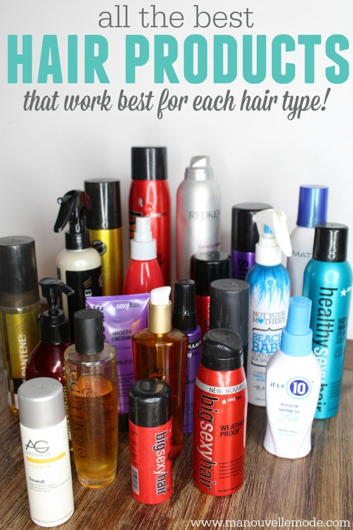 The Best Hair Products For Different Hair Types Cool Hairstyles Different Hair Types Hair Type