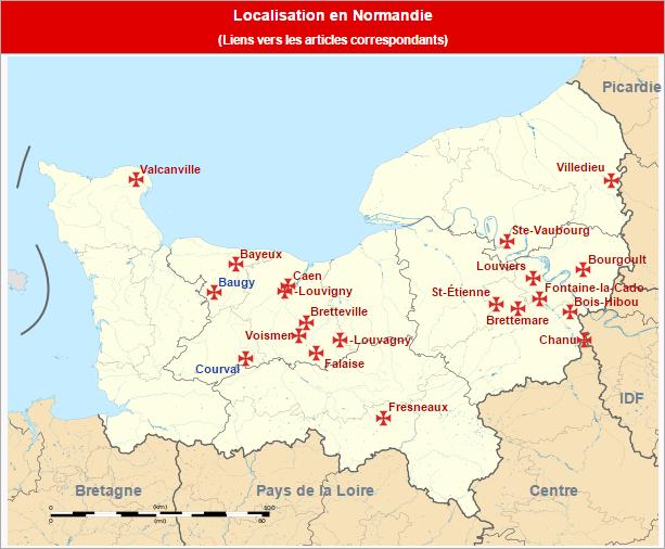 Commanderies templières en Normandie, France