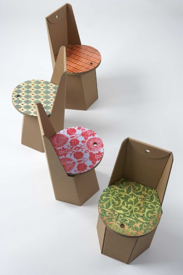 Stühle aus Karton   Papp möbel   Pinterest   Möbel aus pappe ...