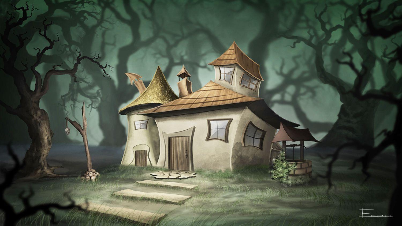 море, ведьмин дом рисунок блюдо выглядит