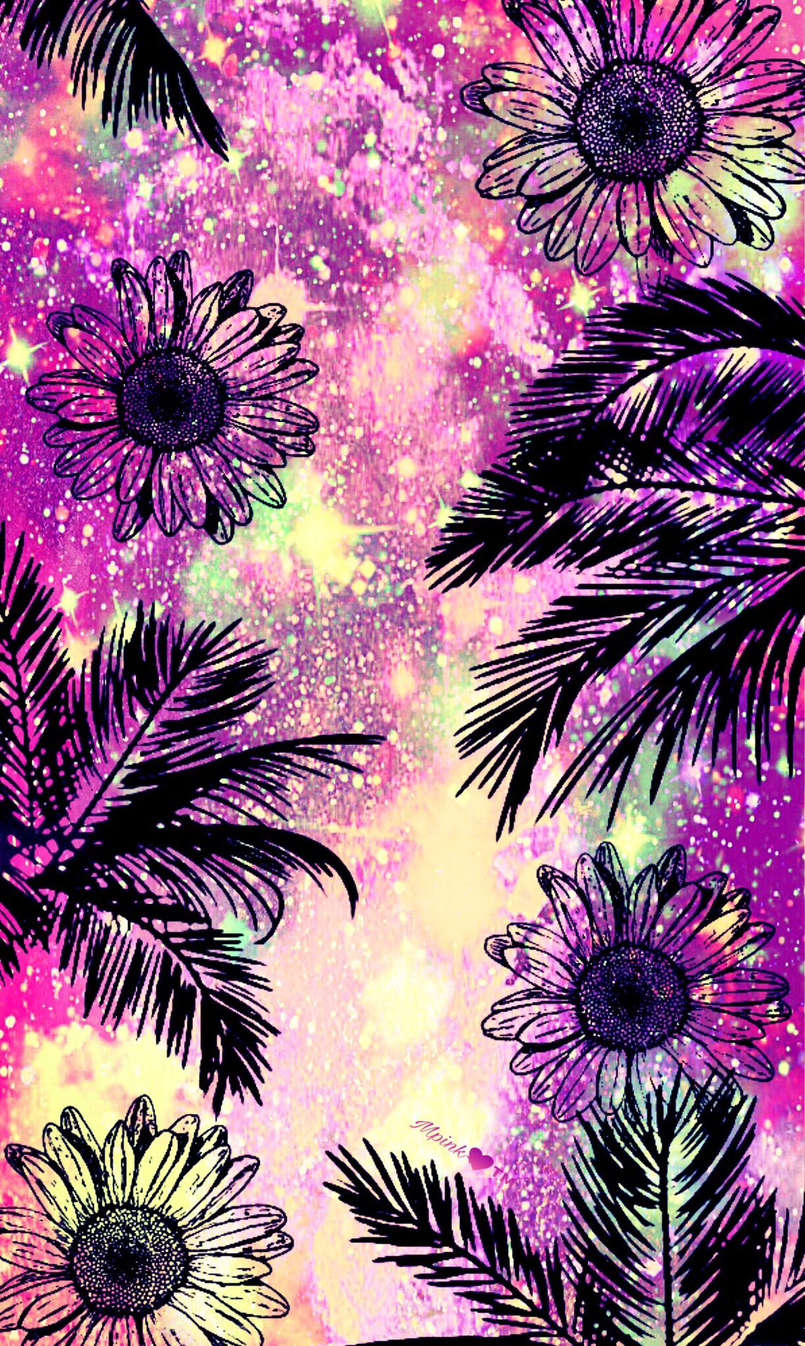 Tropical Wild Flowers Galaxy Wallpaper ...
