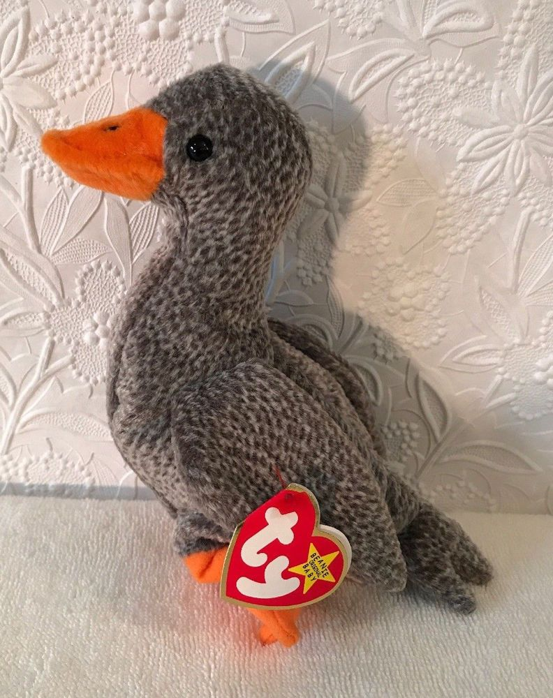 b39f18d2c46 Ty Beanie baby HONK The Goose Ty Beanie babies Duck 1999 NWMT Retired New   Ty