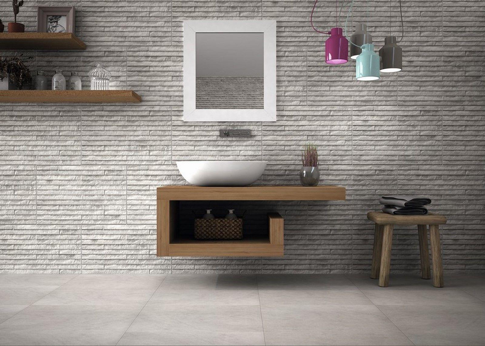 Yosemite grey split face wall tile bathroom ideas grey - Grey bathroom floor tiles texture ...