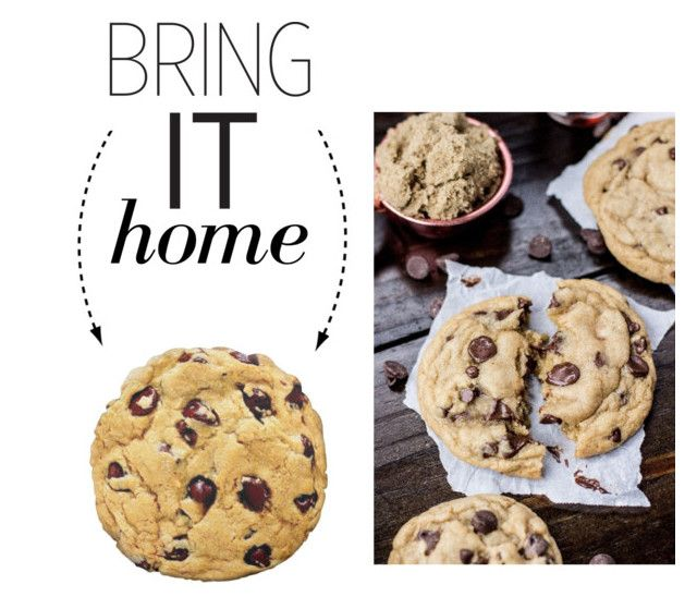 """Bring It Home: Chocolate Chip Cookie Pillow"" by polyvore-editorial ❤ liked on Polyvore featuring interior, interiors, interior design, home, home decor, interior decorating and bringithome"