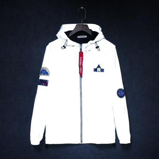 7b745b0a3 Men's windbreaker tide brand hooded jackets waterproof Men Hip Hop Pat –  eticdress