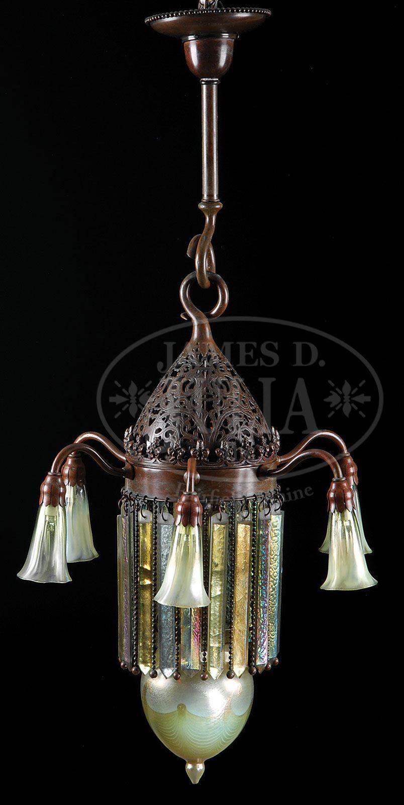 Tiffany Studios Prism Chandelier Est 45 000 55