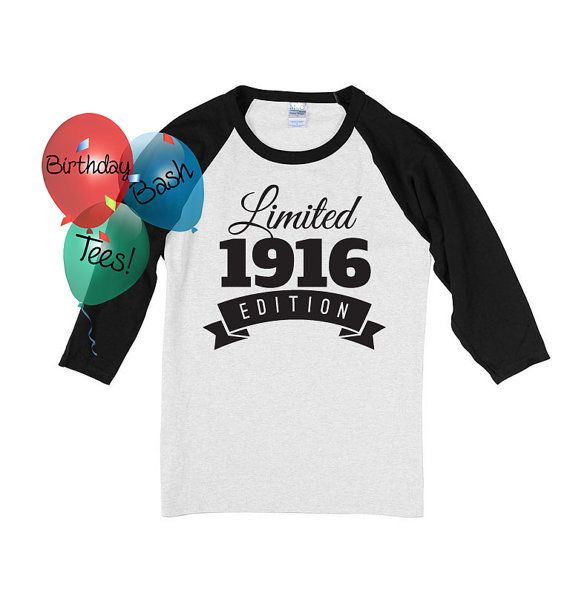 100th Birthday Gift For Men And Women By BirthdayBashTees